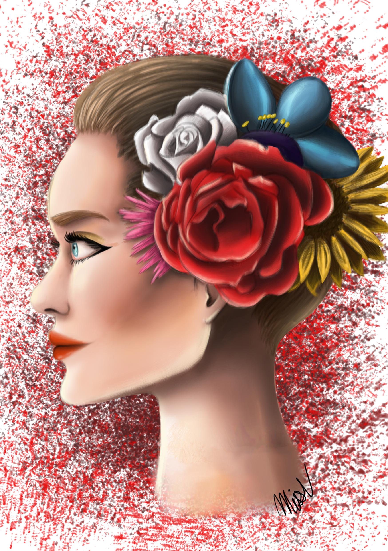 woman-flowers